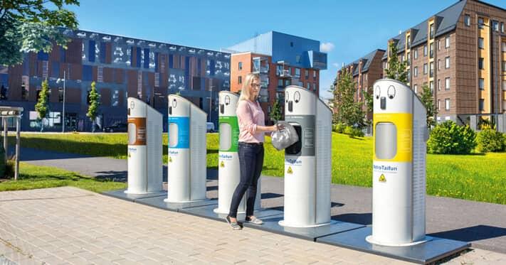 MariMatic MetroTaifun Pneumatic Waste Collection System
