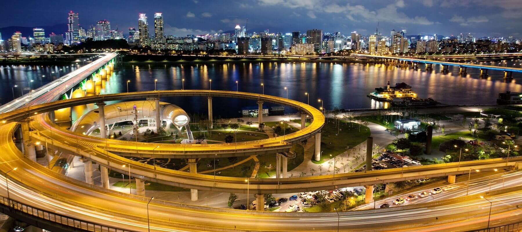 Smart City Seoul at Night
