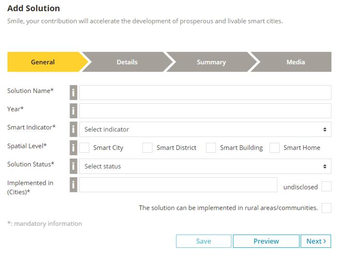 Add Solution UI Screenshot bee smart city