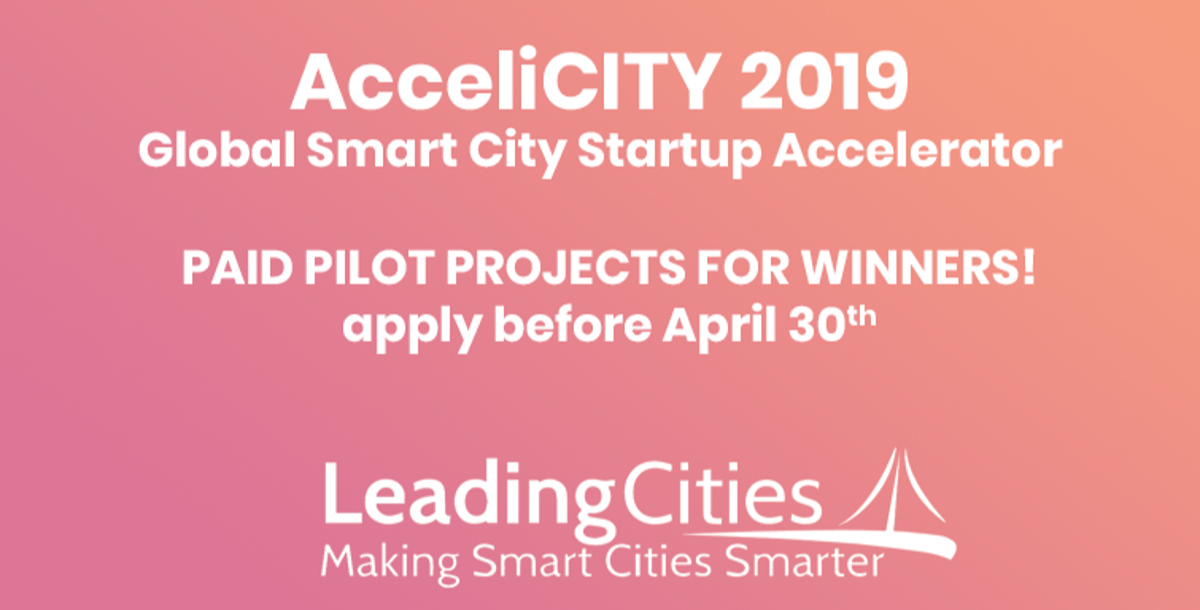 AcceliCITY offers paid pilot projects for smart city startups