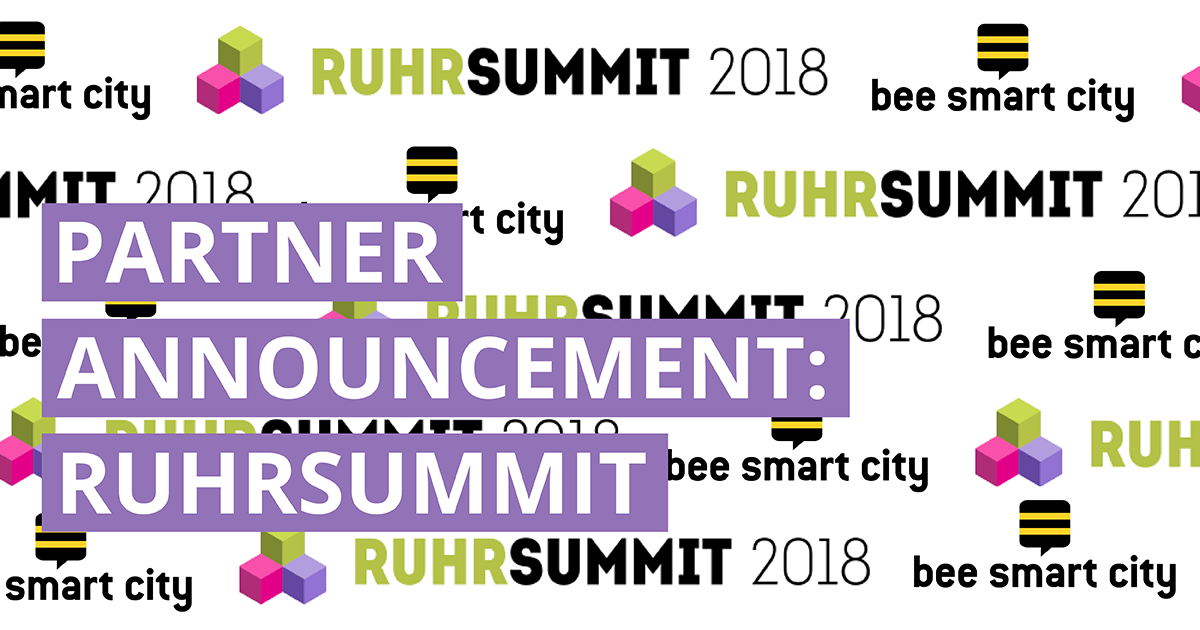 bee smart city joins forces with RuhrSummit for Smart City Startups