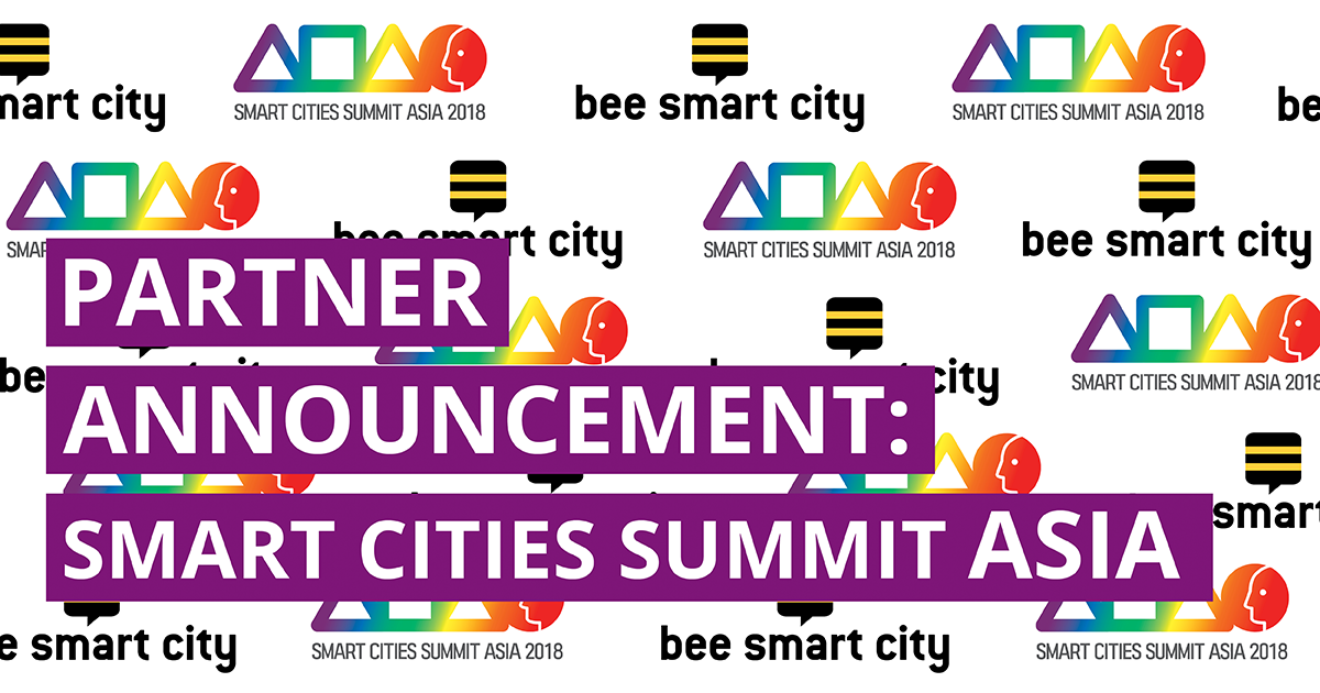 bee smart city forms partnership with Smart Cities Summit Asia 2018