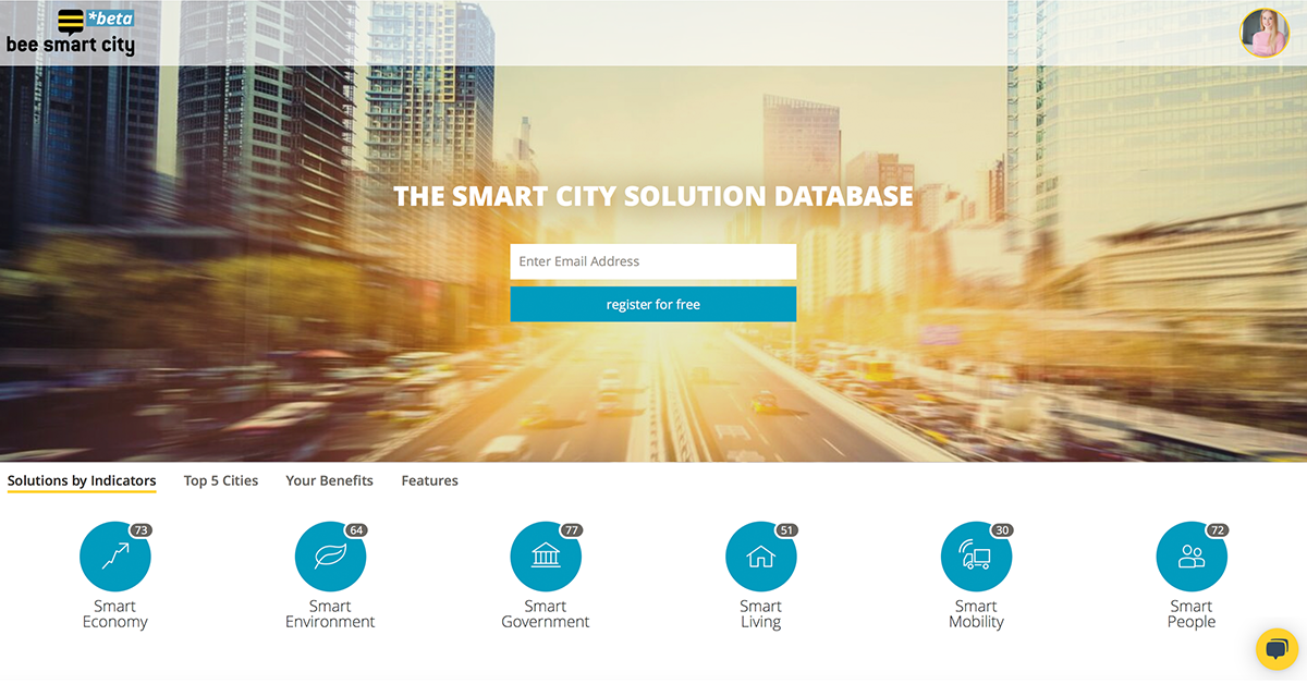 "bee smart city has released its global ""SMART CITY SOLUTION DATABASE"""